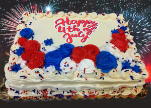 July 4th sheet cake image