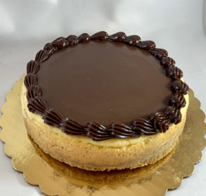 chocolate topped cheesecake