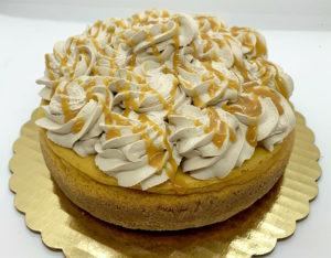 Caramel Topped Pumpkin Cheesecake