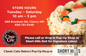 classic cake pop up store short hills deli